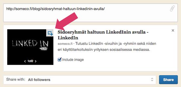 LinkedIn yrityskäyttö julkaisun muokkaus