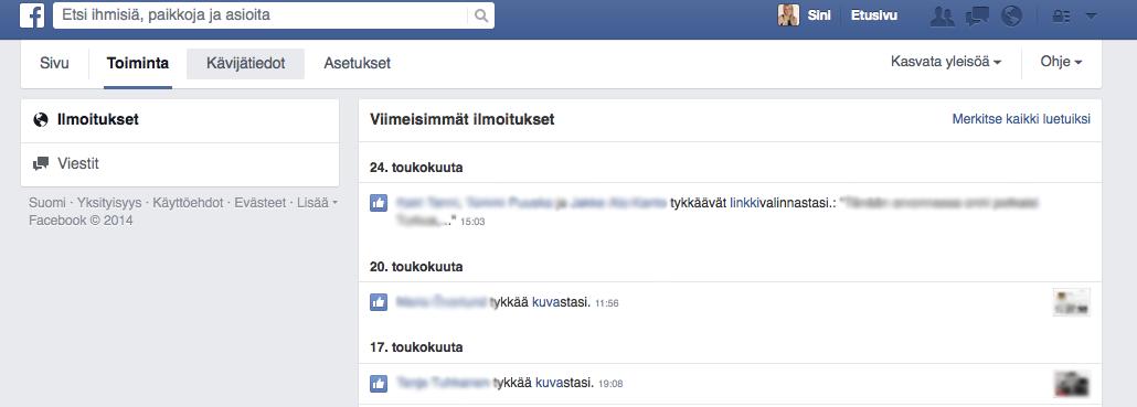 facebook sivut yritykselle Tampere