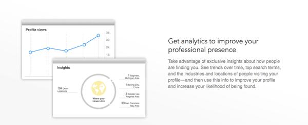 LinkedIn profiili tilastot