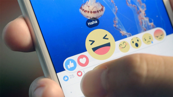 Facebookreactions, photo by Mashable