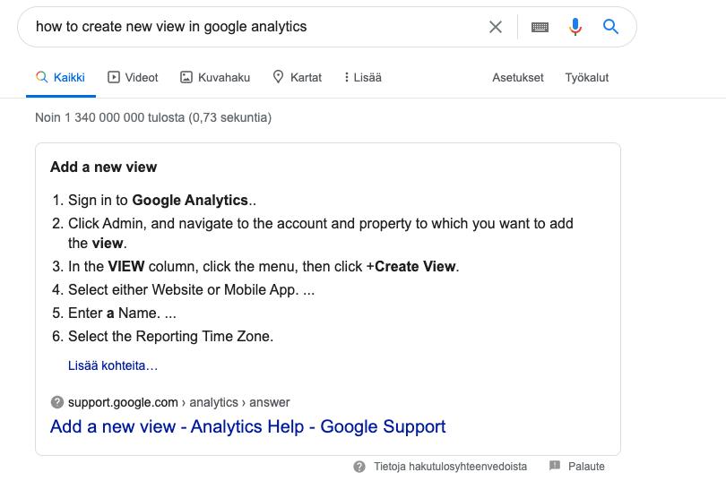 Käytännön hakukoneoptimointia: Kysymysmuotoon kirjoitetulla sisällöllä on suurempi mahdollisuus päästä Googlen hakutulossivun alkuun