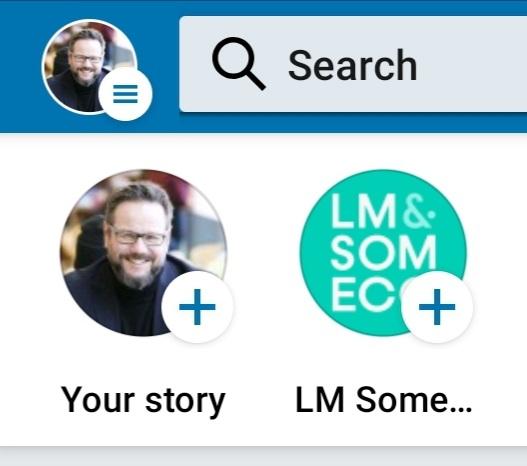 LinkedIn Stories mobiilisovelluksessa