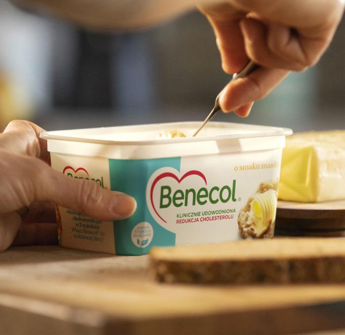 Pitkäaikainen yhteistyö kuvituskuva Benecol-tuotteesta